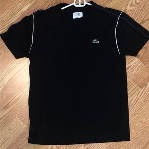 Lacoste sport black tee in stretch fabric - size S